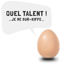 oeuf bulle pour pages web talent