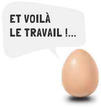 oeuf bulle pour pages web travail
