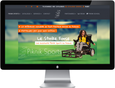 Pikniksports - Site internet