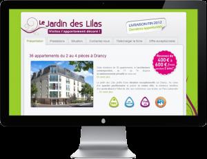 Le Jardin des Lilas - Site internet